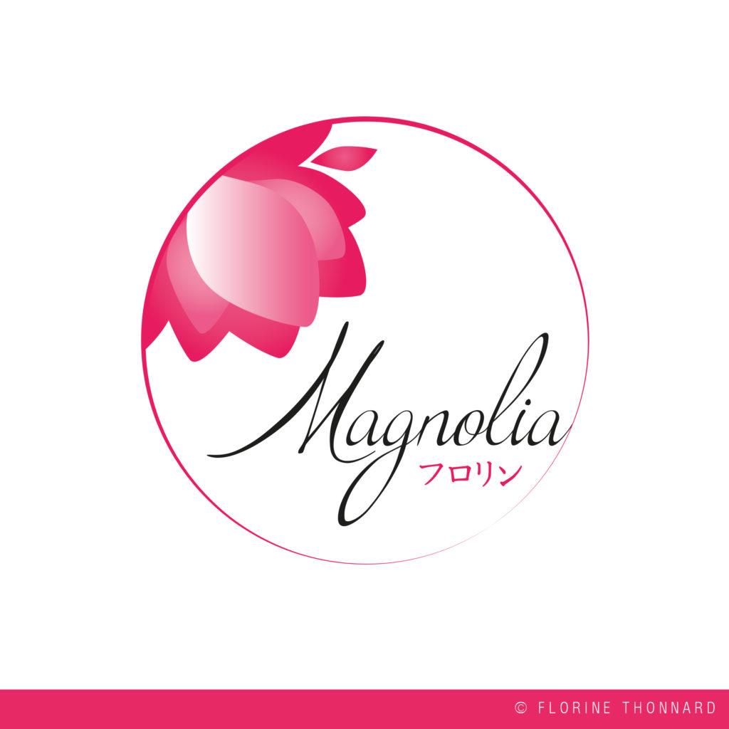 Florine Thonnard, graphiste à Liège, magnolia créations artisanales japonaise logo