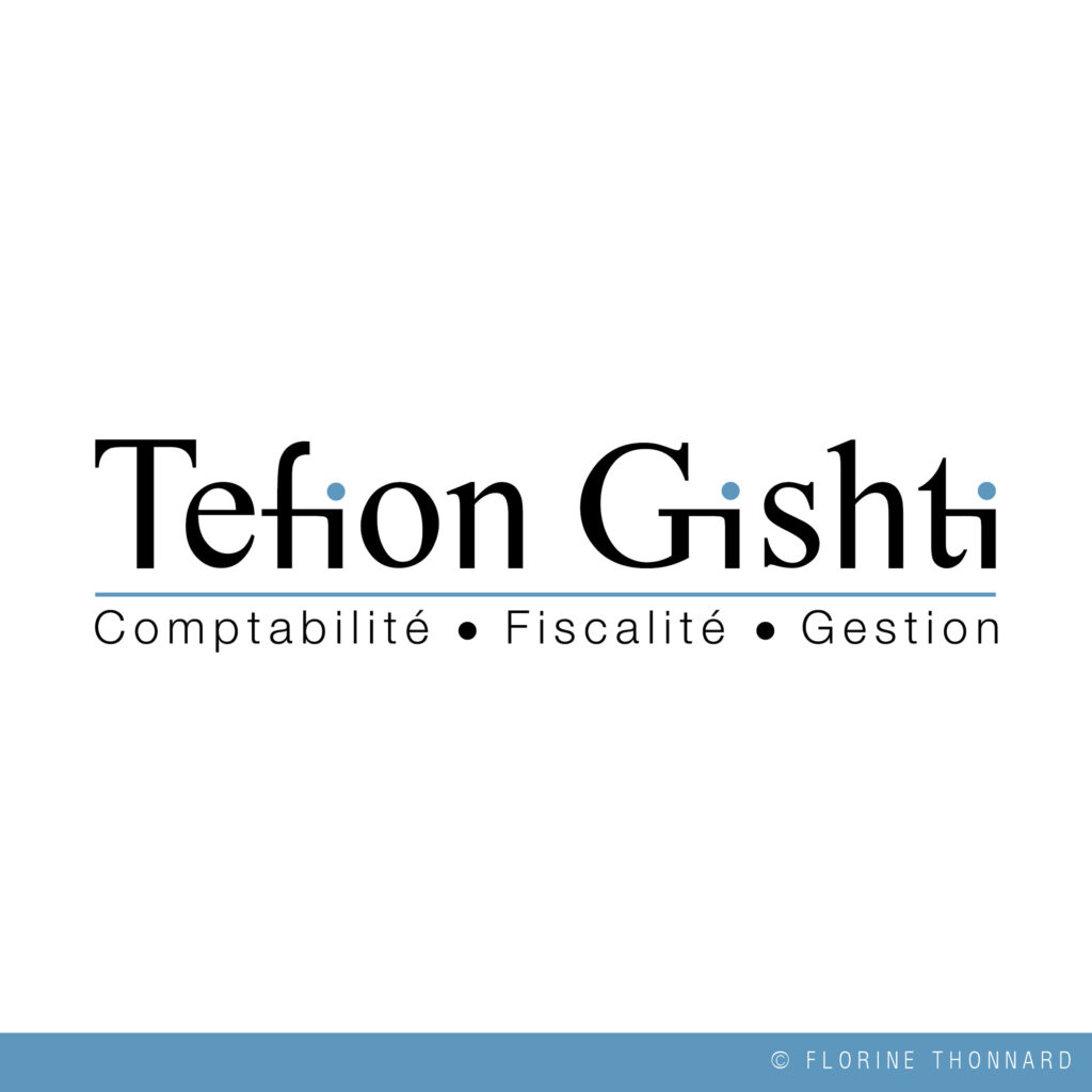 Florine Thonnard, graphiste à Liège, Tefion Gishti comptable logo