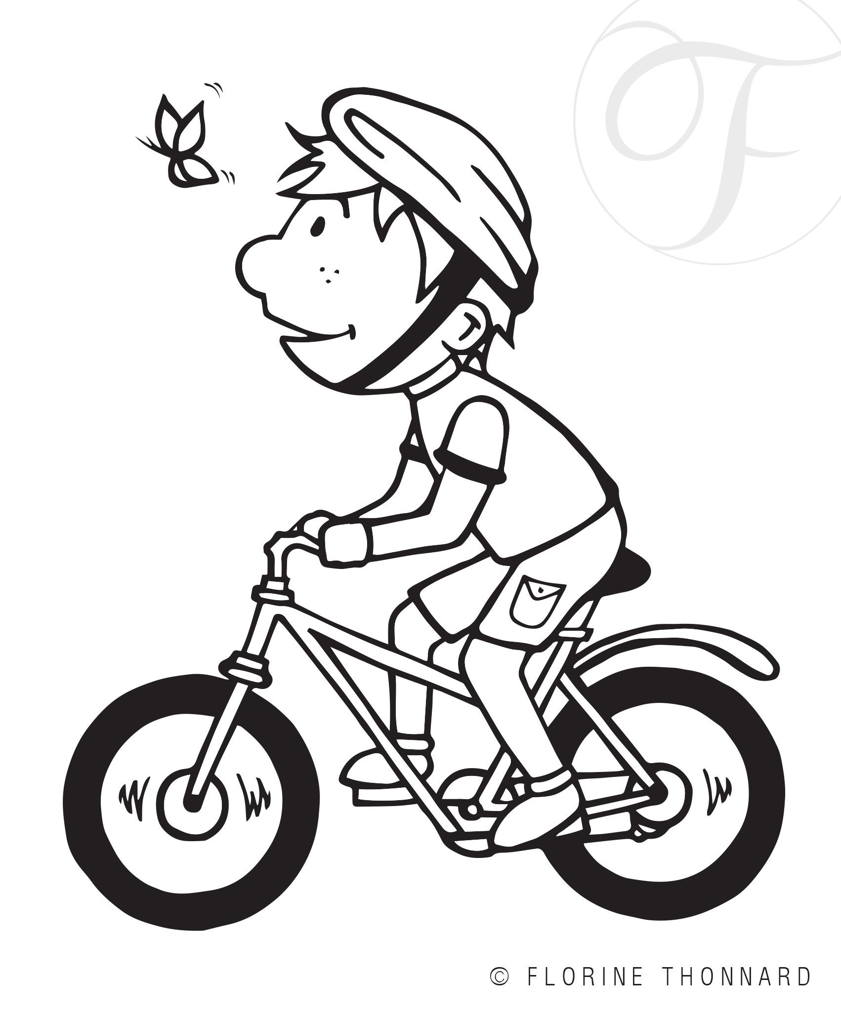 Florine Thonnard, graphiste à Liège, illustration maison du tourisme de bastogne vélo dessin cycliste